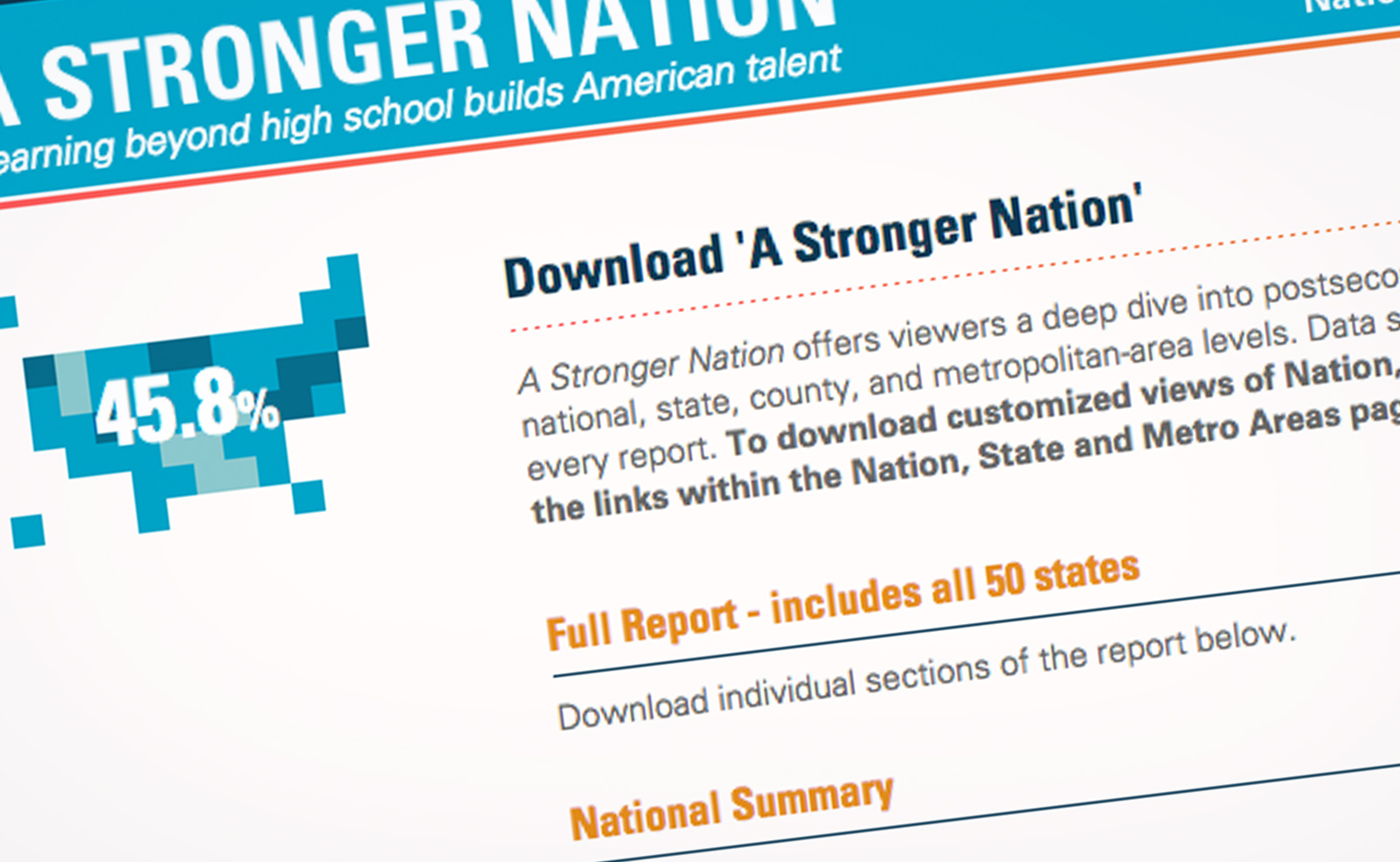 Stronger Nation Report