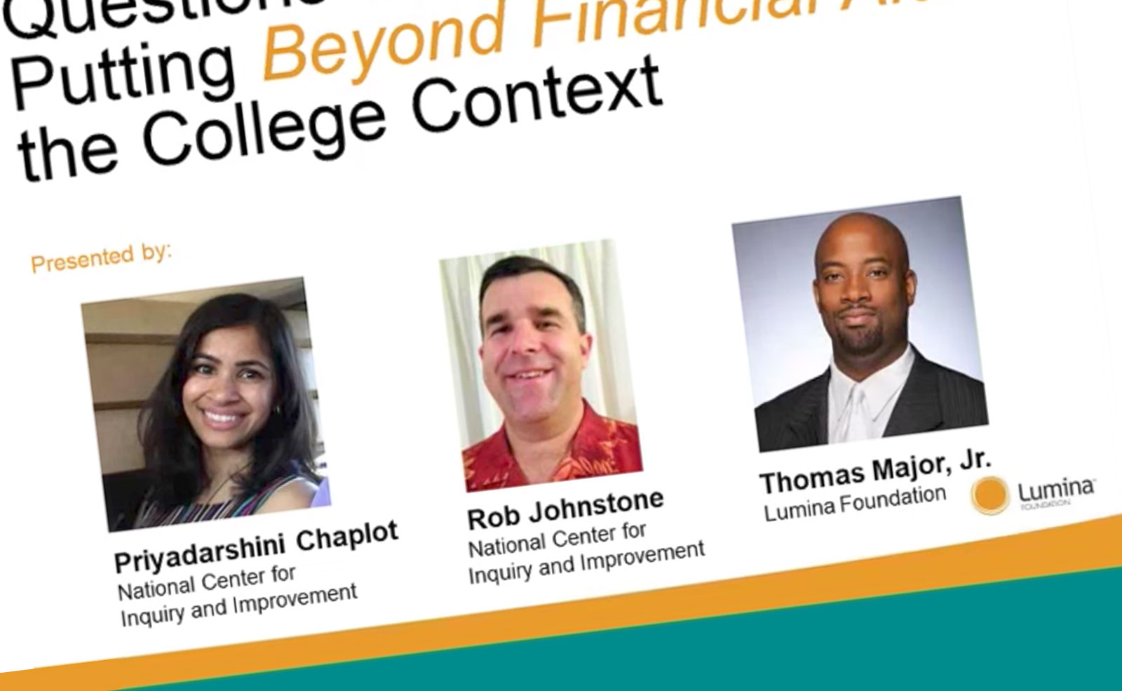Questions and Answers on Lumina's Beyond Financial Aid Guidebook