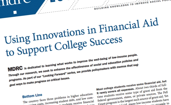 using innovations in financial aid